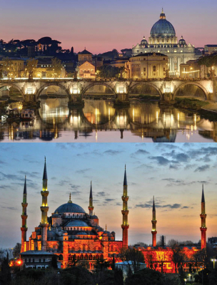 Vatican and Blue Mosque