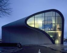 Futuristic building in Amsterdam