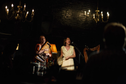 Susan Ashford performing with the Ghost Quartet