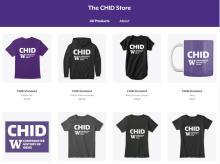 Screenshot of The CHID Store merchandise