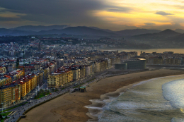 San Sebastian with beach