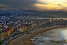 San Sebastian with beach