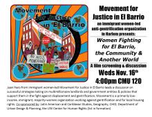 El Barrio Event Poster