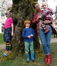 Nicole Bradford with her children