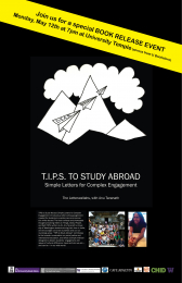 TIPS to Study Abroad Poster