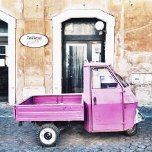 Trestevere Truck on a street in Rome