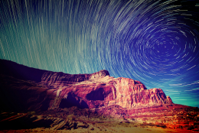 desert with dynamic sky