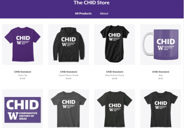 Screenshot of The CHID Store merchandise