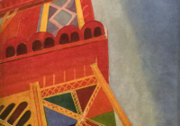 Robert Delaunay, Orphist-style colorful painting of Eiffel Tour, 1926