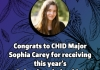 Picture of Sophia Carey: Congrats to CHID Major Sophia Carey for receiving this year's Beinecke Scholarship